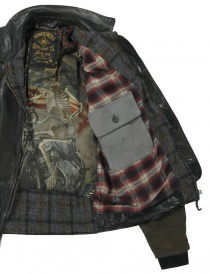 Rude Riders leather and Barbour tweed jacket price