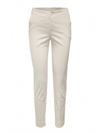 Womens trousers online: European Culture ivory chino trousers
