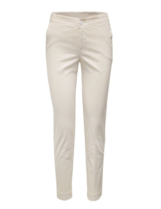 European Culture ivory chino trousers 06DU 3795 1108 womens trousers online shopping