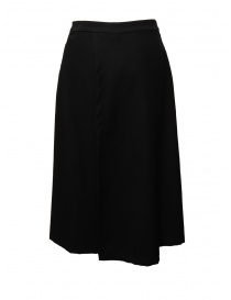 European Culture black cropped skirt-pants
