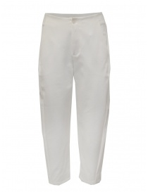 European Culture white cropped pants in viscose fleece online