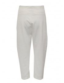 European Culture white cropped pants in viscose fleece