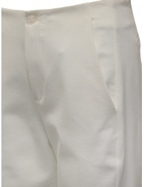 European Culture white cropped pants in viscose fleece price