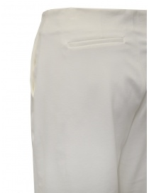 European Culture white cropped pants in viscose fleece womens trousers buy online