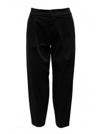 European Culture black trousers with pleats 053U 3795 1600 order online