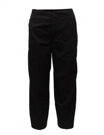 European Culture black ergonomic cropped pants online