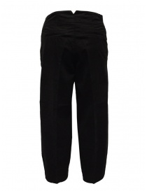 European Culture black ergonomic cropped pants