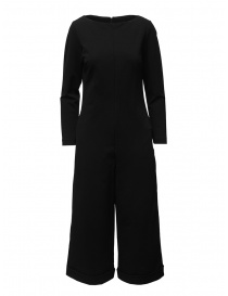 European Culture black long sleeve jumpsuit 11R0 2545 0600 order online