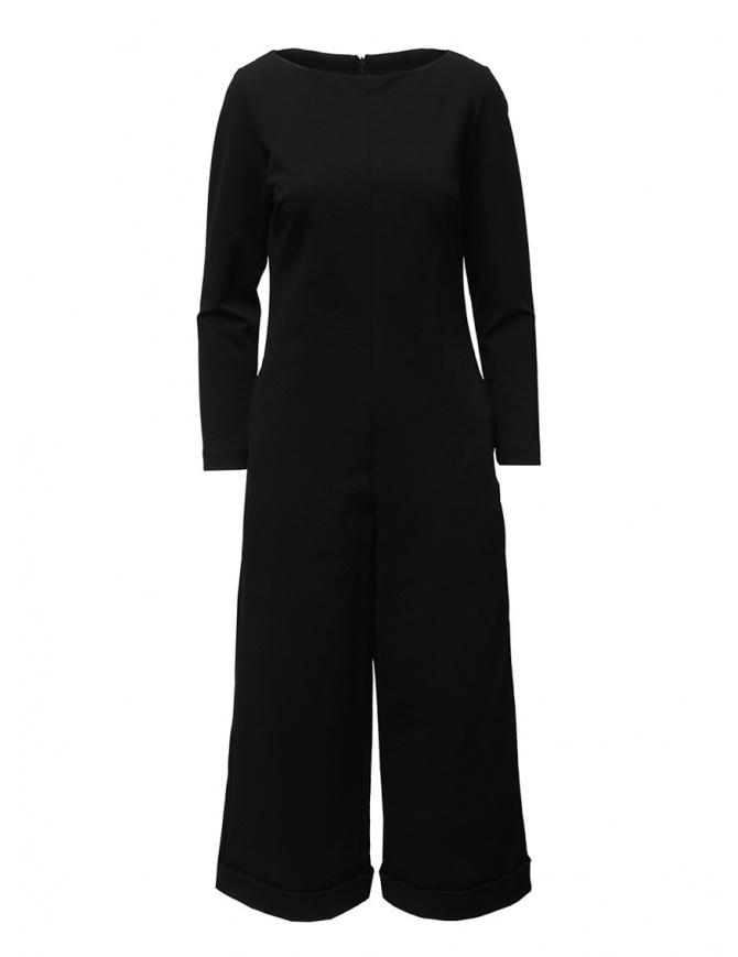European Culture black long sleeve jumpsuit 11R0 2545 0600 womens dresses online shopping