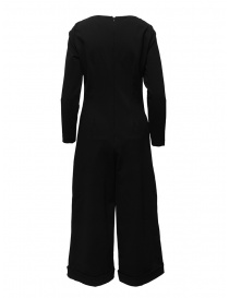 European Culture black long sleeve jumpsuit