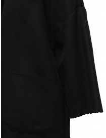 European Culture black coat with raw cut edges price