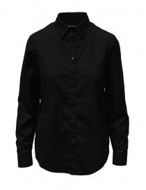 Camicie donna online: European Culture camicia nera con bottoni ai lati