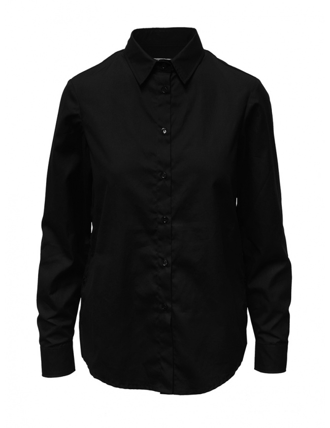 European Culture black shirt with buttons on the sides 6570 3183 0600 womens shirts online shopping