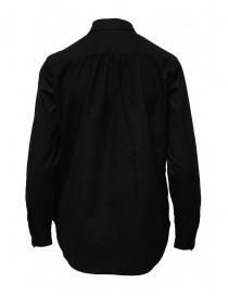 European Culture camicia nera con bottoni ai lati