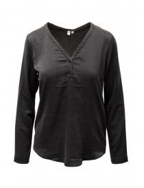 Camicie donna online: European Culture blusa in misto seta nera