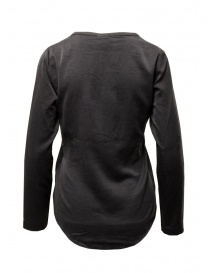European Culture black silk blend blouse