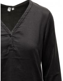 European Culture black silk blend blouse price