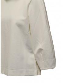 European Culture high neck sweatshirt in ivory white mixed viscose price
