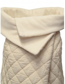 European Culture padded and fleece vest in cream color price