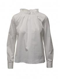 European Culture camicia bianca collo arricciato online