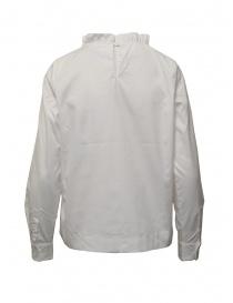 European Culture camicia bianca collo arricciato