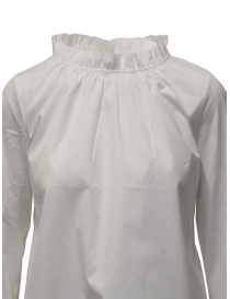 European Culture white shirt with gathered collar price