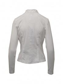 European Culture camicia bianca con maniche e fianchi in jersey