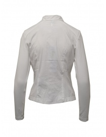 European Culture white shirt with jersey sleeves and sides