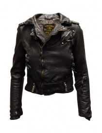 Rude Riders short biker jacket in black leather online