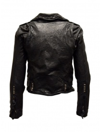 Rude Riders short biker jacket in black leather
