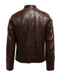 Rude Riders brown leather jacket for biker