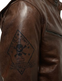 Rude Riders brown leather jacket for biker price