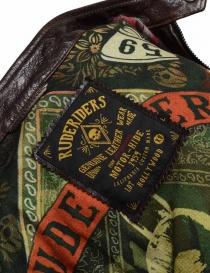 Rude Riders brown leather jacket for biker buy online price