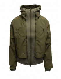 Mens jackets online: Descente X Byborre 3 in 1 military green jacket