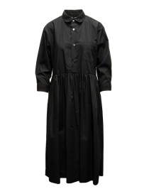 Womens dresses online: Miyao long black shirt dress