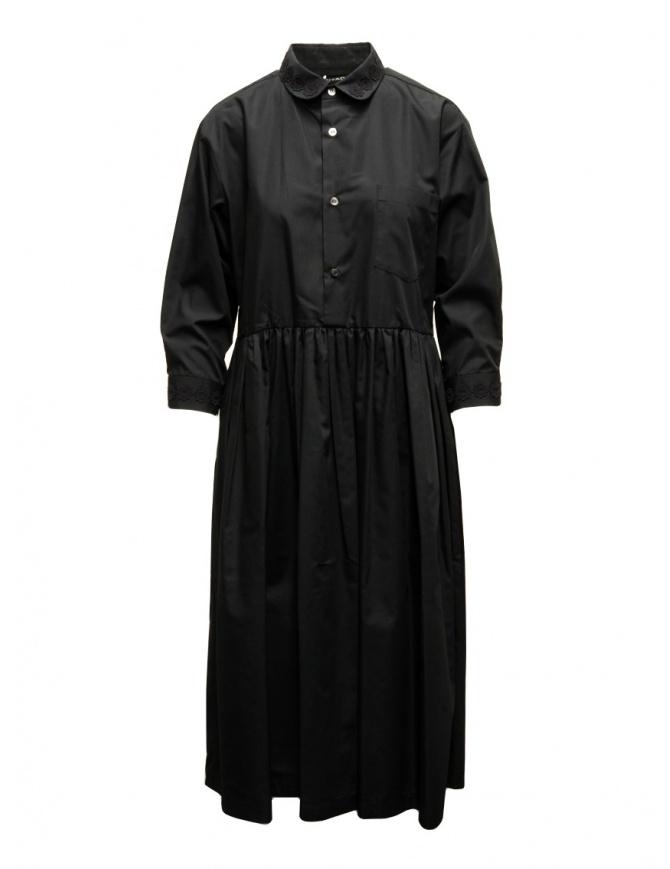 Miyao long black shirt dress MTOP-02 BLK-BLK womens dresses online shopping