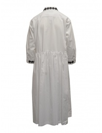 Miyao long white shirt dress with black embroidery price