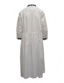 Miyao lungo vestito a camicia bianco con ricami neri prezzo