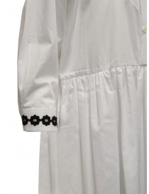 Miyao long white shirt dress with black embroidery womens dresses buy online