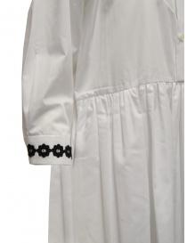 Miyao lungo vestito a camicia bianco con ricami neri abiti donna acquista online