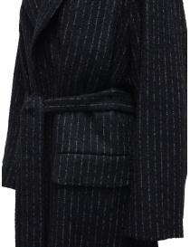 Miyao long blue pinstripe coat price