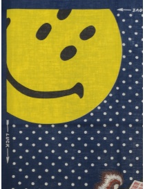 Kapital bandana Love & Peace and Beethoven with smiley