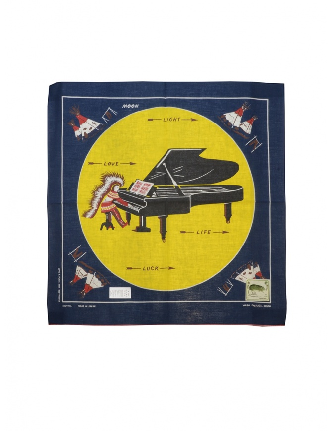 Kapital bandana Love & Peace and Beethoven piano moon Z20009XG515 NAVY sciarpe online shopping