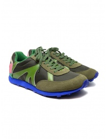 Womens shoes online: Kapital Momotaro sneakers in olive green