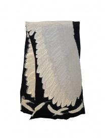 Kapital sciarpa nera con stampa di un'aquila bianca online