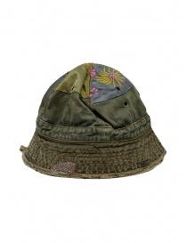 Kapital cappello a secchiello verde con toppe ricamate
