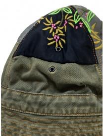 Kapital cappello a secchiello verde con toppe ricamate prezzo