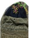 Kapital cappello a secchiello verde con toppe ricamate K2003XH507 KHA prezzo