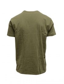 Kapital khaki green t-shirt with pocket and flags