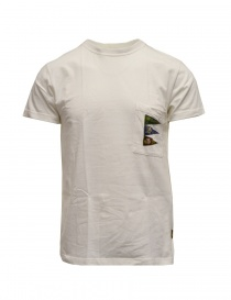 Kapital white T-shirt with pocket and flags K2003SC042 WHITE